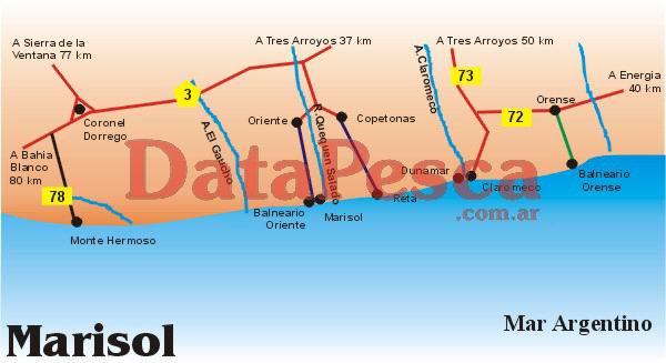 Marisol - Reta - Claromec? - Orense - Monte Hermoso - Quequen Salado